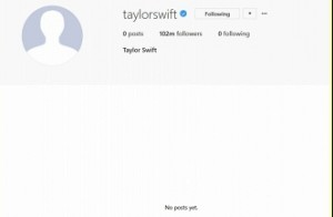 All posts removed from Taylor Swifts's social media accounts