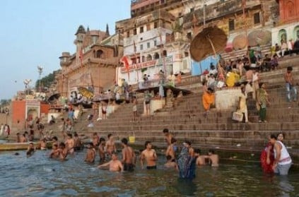 150 men take bath in the Ganges to rid off toxic feminism