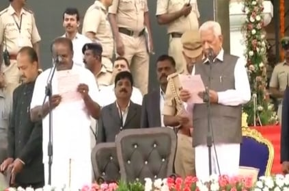 HD Kumaraswamy takes oath as Karnataka CM