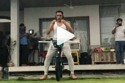 MS Dhoni uploads new video performing stunts on Instagram
