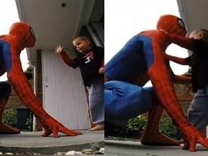 Must Watch: Dad dresses up as Spiderman to cheer up son battling Cancer, Emotional Surprise Video