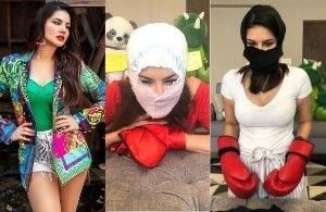 Sunny Leone's funny Emergency COVID masks version! Don't miss!